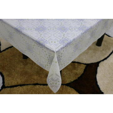Printed pvc lace tablecloth by roll quilted